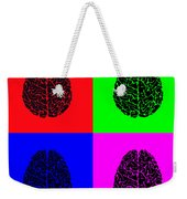 4 Brain Pop Art Panel Weekender Tote Bag
