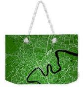 Brisbane Street Map - Brisbane Australia Road Map Art On Colored Weekender Tote Bag