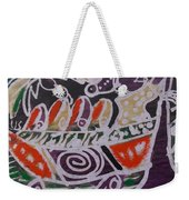 Canoe Man On The Water Looking For Fish To Catch Weekender Tote Bag