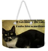 Cat Weekender Tote Bag