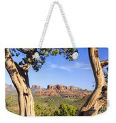 Cathedral Rock Framed By Juniper In Sedona Arizona Weekender Tote Bag