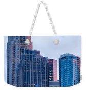 Charlotte City Skyline At Night Weekender Tote Bag