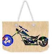 Chopper Motorcycle Weekender Tote Bag