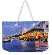 City Of Rhodes During Dusk Time Weekender Tote Bag by George Atsametakis