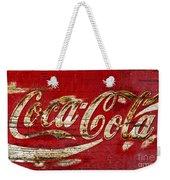 Coca Cola Sign Cracked Paint Weekender Tote Bag