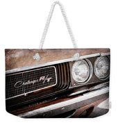 Dodge Challenger Rt Grille Emblem Weekender Tote Bag by Jill Reger