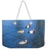 4 Duck Pond Weekender Tote Bag