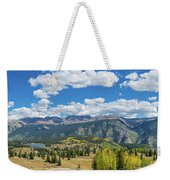 Elevated View Of Trees On Landscape Weekender Tote Bag
