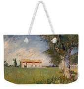 Farmhouse In A Wheat Field Weekender Tote Bag