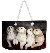 Festive Puppies Weekender Tote Bag