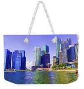 Financial District Of Singapore And View Of The Water In Singapore Weekender Tote Bag