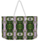 Flowers From Cherryhill Nj America Silken Sparkle Purple Tone Graphically Enhanced Innovative Patter Weekender Tote Bag