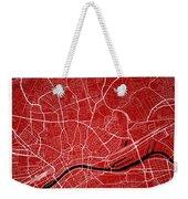 Frankfurt Street Map - Frankfurt Germany Road Map Art On Colored Weekender Tote Bag