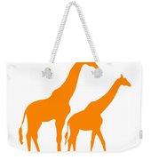 Giraffe In Orange And White Weekender Tote Bag
