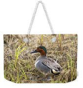 Greenwing Teal Weekender Tote Bag