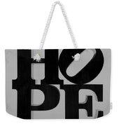 Hope In Black And White Weekender Tote Bag