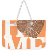 Houston Street Map Home Heart - Houston Texas Road Map In A Hear Weekender Tote Bag