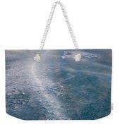 Ice Pattern On Frozen Abraham Lake Weekender Tote Bag