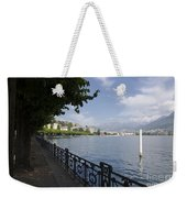 Lake Front With Trees Weekender Tote Bag