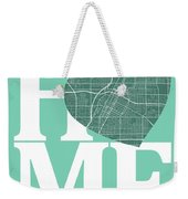 Las Vegas Street Map Home Heart - Las Vegas Nevada Road Map In A Weekender Tote Bag