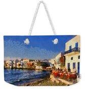 Little Venice In Mykonos Island Weekender Tote Bag