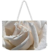 Long-stemmed White Rose Weekender Tote Bag