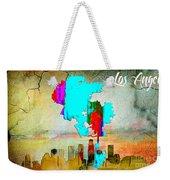 Los Angeles Map And Skyline Weekender Tote Bag