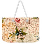 Marble End Paper Weekender Tote Bag by William Kilburn