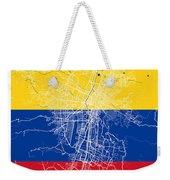Medellin Street Map - Medellin Colombia Road Map Art On Colored  Weekender Tote Bag