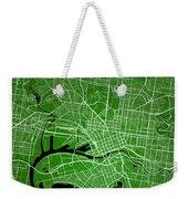 Melbourne Street Map - Melbourne Australia Road Map Art On Color Weekender Tote Bag