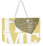 Miami Street Map Home Heart - Miami Florida Road Map In A Heart Weekender Tote Bag