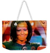 Michelle Obama Weekender Tote Bag by Marvin Blaine