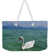 Mute Swan. Sirmione. Lago Di Garda Weekender Tote Bag