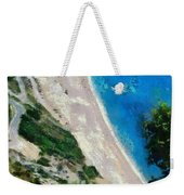 Myrtos Beach In Kefallonia Island Weekender Tote Bag
