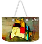 Nashville Map Watercolor Weekender Tote Bag by Marvin Blaine
