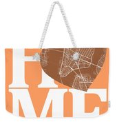 New York Map Home Heart - New York City New Yorkroad Map In A He Weekender Tote Bag