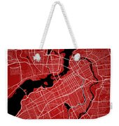 Ottawa Street Map - Ottawa Canada Road Map Art On Colored Backgr Weekender Tote Bag