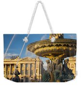 Paris Fountain Weekender Tote Bag by Brian Jannsen