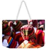 Peruvian Dancers At The Parade In Cusco Weekender Tote Bag