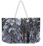 Pine Forest Winter Weekender Tote Bag