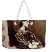 Portrait Of Jane Morris Weekender Tote Bag