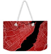 Quebec City Street Map - Quebec City Canada Road Map Art On Colo Weekender Tote Bag