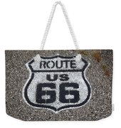 Route 66 Shield Weekender Tote Bag