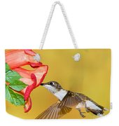 Ruby-throated Hummingbird Female Weekender Tote Bag
