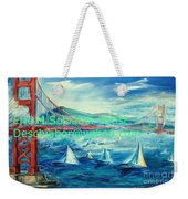San Francisco Golden Gate Bridge Weekender Tote Bag