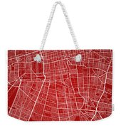 Santiago Street Map - Santiago Chile Road Map Art On Colored Bac Weekender Tote Bag