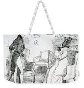 Scene From Pride And Prejudice By Jane Austen Weekender Tote Bag