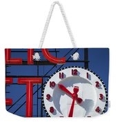 Seattle Market Sign Weekender Tote Bag by Brian Jannsen
