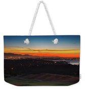 Seattle Skyline Waterfront Weekender Tote Bag