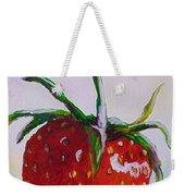 Single Strawberry Weekender Tote Bag